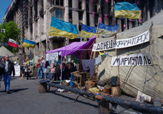 Kiev som är i stadens centrum, på Maydan Nezalejnosti, Ukraina Royaltyfri Foto