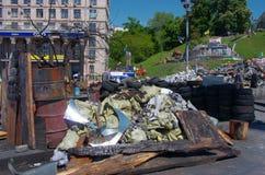 Kiev som är i stadens centrum, på Maydan Nezalejnosti, Ukraina Arkivfoton