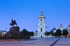 Kiev Sophia Bogdan Rise Stock Images