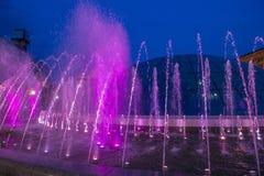 Kiev springbrunnar på Maidan Nezalezhnosti Arkivbild