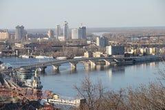 Kiev stads- landskap Royaltyfri Bild