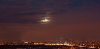 kiev stadsmoon över Arkivfoto