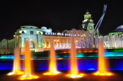 Kiev station and fountain Rape of Europe Royalty Free Stock Images
