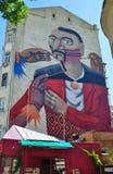 Kiev. Street. Graffiti. royalty free stock images