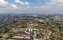 Kiev suburb aerial cityscape Royalty Free Stock Images