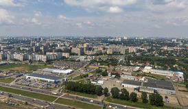 Kiev suburb aerial cityscape Royalty Free Stock Photos