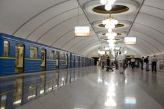 Kiev subway station Royalty Free Stock Photos
