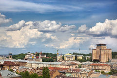Kiev summer cityscape Royalty Free Stock Images