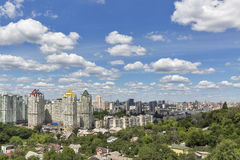 Kiev summer cityscape, Ukraine Stock Photography