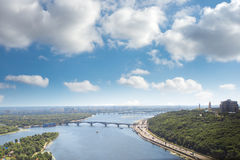 Kiev, summer cityscape of Ukrainian capital Royalty Free Stock Image