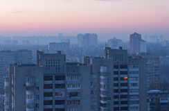 Kiev at sunrise Royalty Free Stock Images