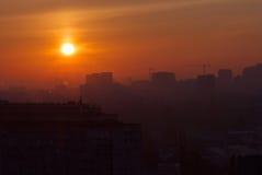 Kiev at sunrise Stock Images