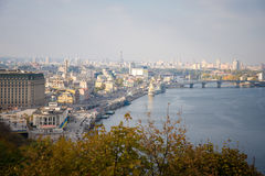 Kiev, top view Royalty Free Stock Photography