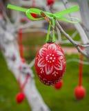 KIEV, UCRÂNIA - APRIL17: Ovos da páscoa no festival ucraniano de Eas Foto de Stock