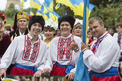 Kiev, Ucrânia - 24 de agosto de 2013 celebração Imagem de Stock