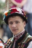 Kiev, Ucrânia - 24 de agosto de 2013 celebração do Dia da Independência, homem novo considerável Imagem de Stock Royalty Free
