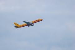 KIEV, UCRÂNIA - 10 DE JULHO DE 2015: DHLs Airbus A300 Fotos de Stock Royalty Free