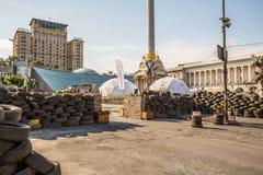 KIEV, UCRÂNIA 24 DE JULHO: Maidan Nezaleznosti 24, 2014 em Kiev, U Foto de Stock