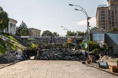 KIEV, UCRÂNIA 24 DE JULHO: Maidan Nezaleznosti 24, 2014 em Kiev, U Imagem de Stock Royalty Free