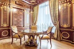 KIEV, UCRÂNIA - 19 DE MAIO DE 2016: Photosession interior da sala de conferências nova do programa demonstrativo Imagem de Stock Royalty Free