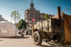 KIEV, UCRÂNIA - 12 de maio de 2014: Revolução ucraniana Euromaidan Fotos de Stock