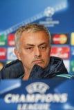 KIEV, UCRÂNIA - 20 DE OUTUBRO: Jose Mourinho imagens de stock royalty free