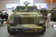 Kiev, Ucrânia 24 de setembro de 2015: Veículos blindados XII International Imagens de Stock Royalty Free