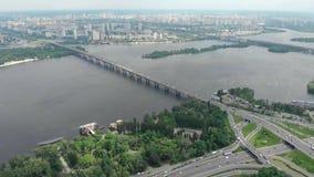 Kiev Ucrânia do zangão em 4K filme
