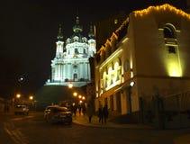 kiev ucrânia Igreja do ` s de St Andrew Imagens de Stock Royalty Free