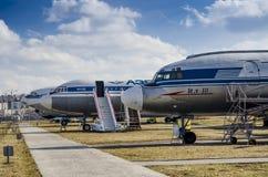 Kiev, Ucrânia, o 7 de março de 2019 - museu nacional da aviação editorial imagens de stock royalty free