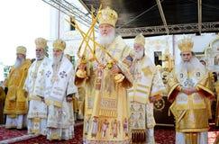 Kiev, Ucrânia, o Dormition santamente Kiev-Pechersk Imagens de Stock Royalty Free