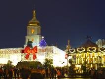 kiev ucrânia Opinião da noite Imagens de Stock