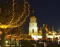 kiev ucrânia Opinião da noite Imagem de Stock Royalty Free