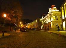 kiev ucrânia Opinião da noite da cidade Fotos de Stock Royalty Free