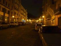 kiev ucrânia Opinião da noite da cidade Imagem de Stock Royalty Free