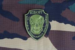 KIEV, UCRÂNIA - julho, 08, 2015 Crachá uniforme não oficial do exército de Ucrânia Imagens de Stock