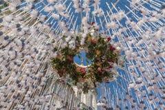 KIEV, UCRAINA - APRIL11: Adempimento di desiderio del tunnel La mostra Fotografia Stock Libera da Diritti