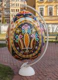 KIEV, UCRAINA - APRIL11: Pysanka - uovo di Pasqua dell'ucranino Il exhi Fotografia Stock
