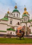 KIEV, UCRAINA - APRIL17: Uova di Pasqua al festival ucraino di Eas Immagini Stock Libere da Diritti