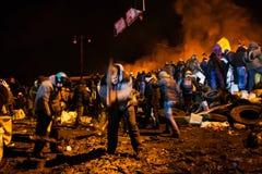 KIEV, UCRAINA - 24 gennaio 2014: Proteste antigovernative di massa Immagini Stock Libere da Diritti