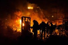 KIEV, UCRAINA - 24 gennaio 2014: Proteste antigovernative di massa Fotografie Stock