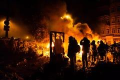 KIEV, UCRAINA - 24 gennaio 2014: Proteste antigovernative di massa Immagine Stock Libera da Diritti