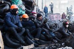 KIEV, UCRAINA - 26 gennaio 2014: Proteste antigovernative di massa Fotografia Stock