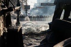 KIEV, UCRAINA - 26 gennaio 2014: Proteste antigovernative di massa Fotografia Stock Libera da Diritti