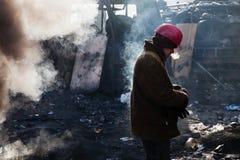 KIEV, UCRAINA - 26 gennaio 2014: Proteste antigovernative di massa Immagine Stock