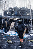 KIEV, UCRAINA - 26 gennaio 2014: Proteste antigovernative di massa Immagini Stock Libere da Diritti