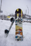 Bufera di neve a Kiev Immagine Stock