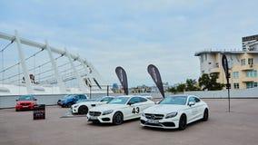 Kiev, Ucraina - 4 ottobre 2016: Esperienza della stella di Mercedes Benz La serie interessante di prove su strada Fotografia Stock Libera da Diritti