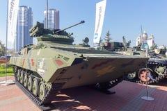 Kiev, Ucraina - 10 ottobre 2018: Veicolo da combattimento modernizzato della fanteria della produzione ucraina BMP-1UMD immagine stock libera da diritti