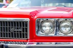 Kiev, Ucraina - 30 settembre 2018: Chevrolet Impala 1974 Festival di OldCarLand immagini stock libere da diritti